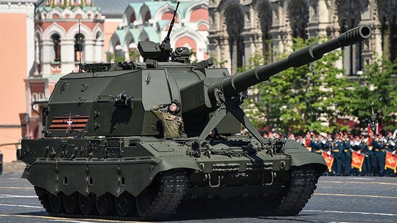 Комплекс 2с35 «Коалиция-СВ» во время Парада Победы, 2019 год.