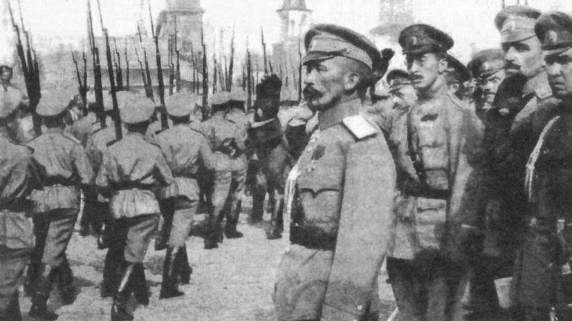Верховный главнокомандующий Русской армией генерал от инфантерии Корнилов и верные ему воинские части.