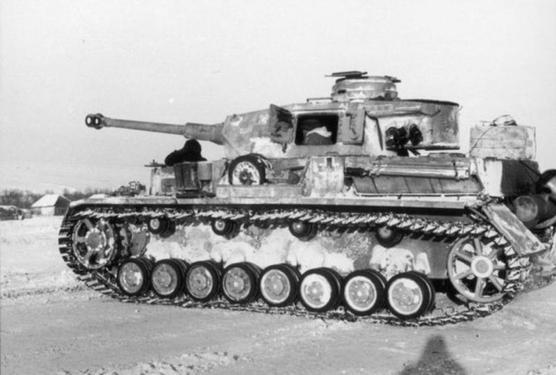 Немецкий средний танк PzKpfw IV.