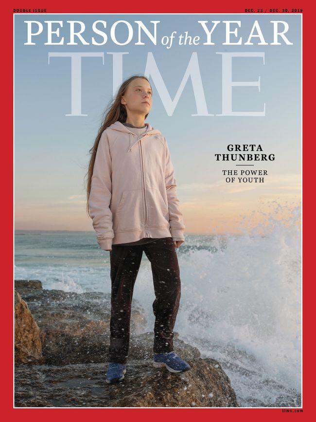 Журнал Time назвал малолетнюю Тунберг «человеком года».