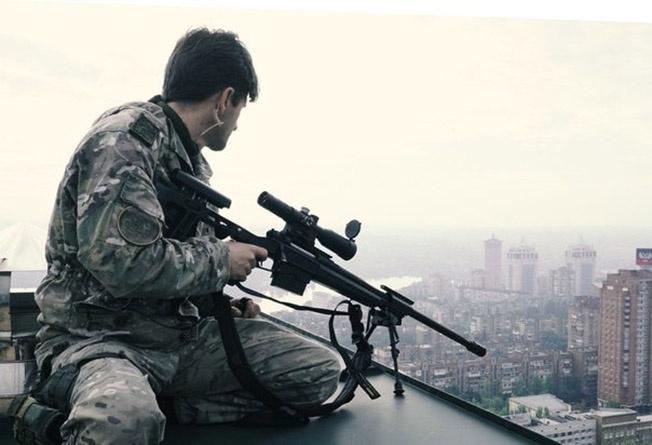 Во время войны в Югославии.