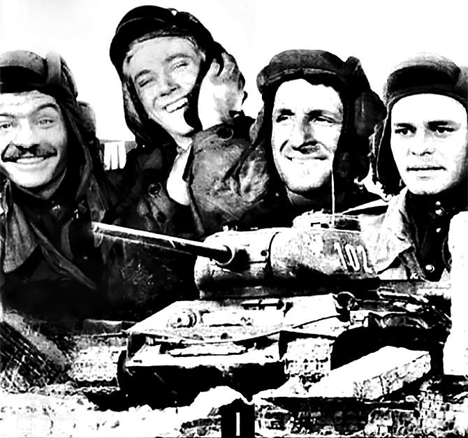 Плакат к фильму «Четыре танкиста и собака».
