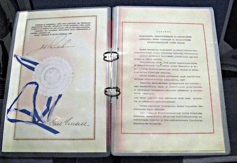 В 1948 г. Советский Союз и Финляндия заключили Договор о дружбе, сотрудничестве и взаимной помощи.