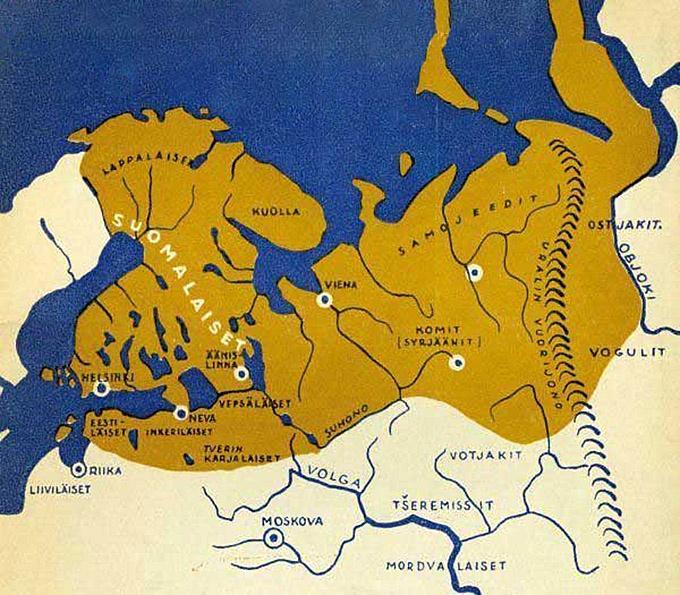 Карта «Великой Финляндии».
