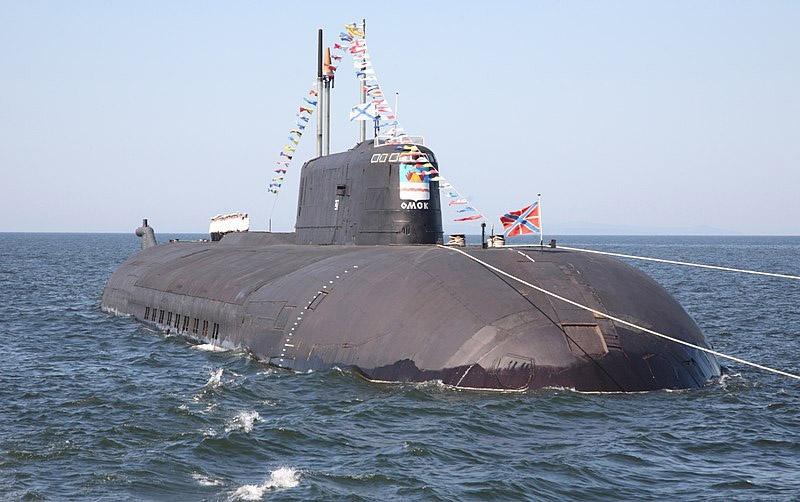 Атомный подводный ракетный крейсер «Омск».