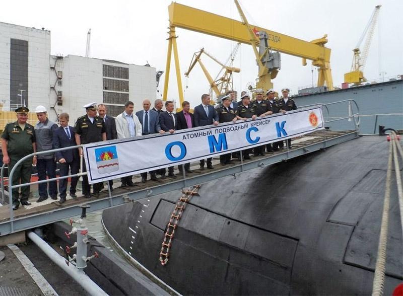 После ремонта и модернизации Тихоокеанскому флоту передан атомный подводный крейсер с крылатыми ракетами «Омск».
