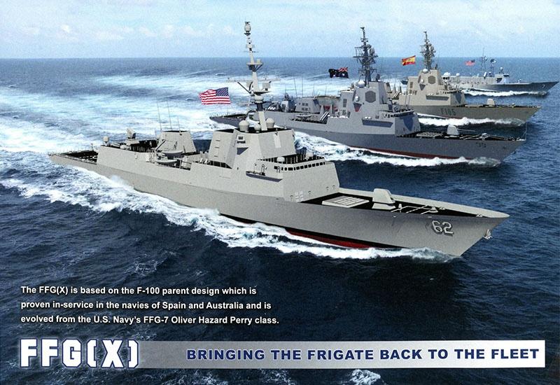 Внедрение единой боевой системы фрегата нового поколения - FFG(X).