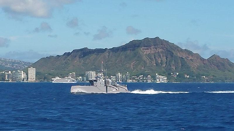 «Морской охотник» выходит из порта Сан-Диего в поход до Пёрл-Харбора и обратно.