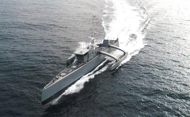 Разработанный институтом DARPA беспилотный корабль «Морской охотник».