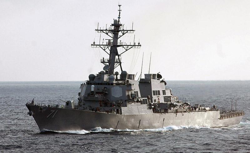 Американский эсминец «Росс» покидает Чёрное море.