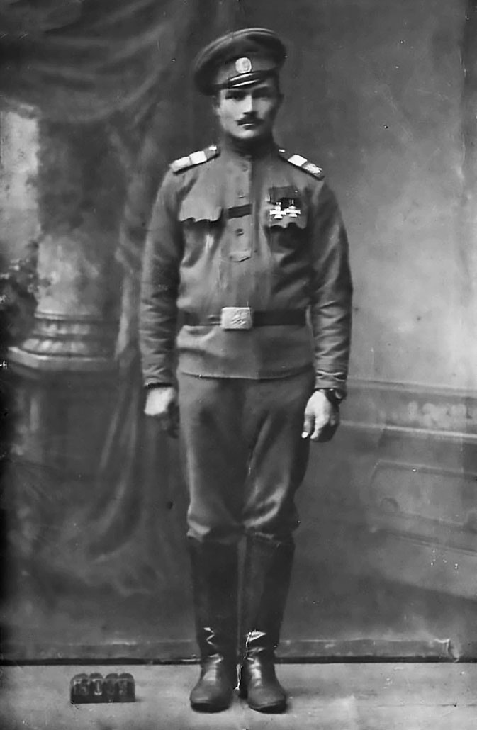 Георгиевский кавалер Афанасий Лапшов.