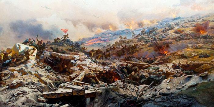Штурм Сапун-горы под Севастополем.