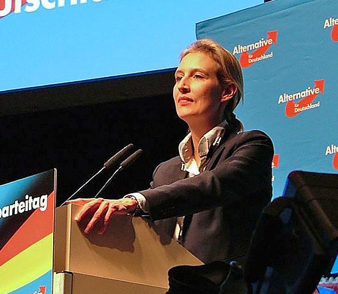 Сопредседатель партии «Альтернатива для Германии» Алис Вайдель предложила «почтить память жертв бегства немецкого народа от наступающей Красной Армии».