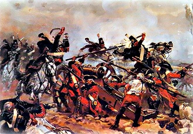 Первое боевое крещение единороги приняли в ходе Семилетней войны (1756—1762 гг.).