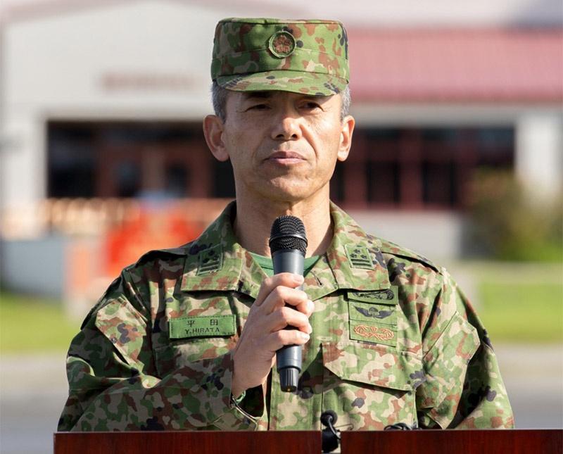 «Наша цель - стать всемирно известным десантным подразделением», - отметил заместитель командира амфибийной бригады быстрого реагирования полковник Юдзи Хирата.