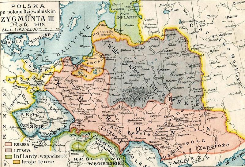 Карта Речи Посполитой времен Сигизмунда III.