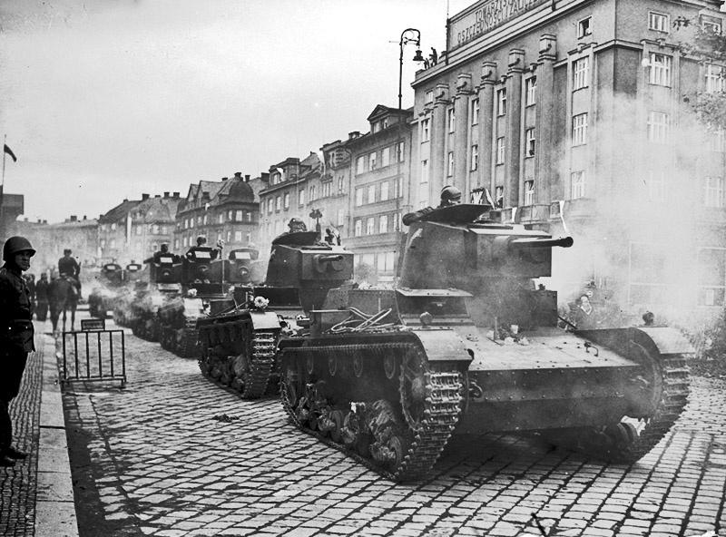 Польские танки входят в Тешинскую Силезию.