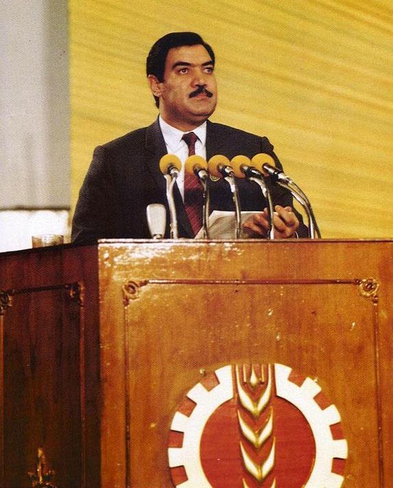 Фото 1. Президент Афганистана Мохаммад Наджибулла.