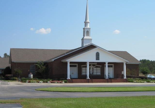 Баптистская церковь в одном из штатов «одноэтажной Америки».