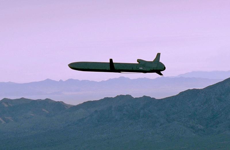 Высота полёта крылатой ракеты типа «Томагавк» или «Скальп» - 40-50 метров.