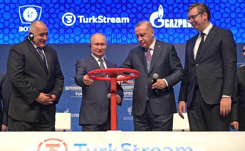 Только недавно Владимир Путин и Реджеп Тайип Эрдоган приняли участие в церемонии ввода в эксплуатацию газопровода «Турецкий поток».