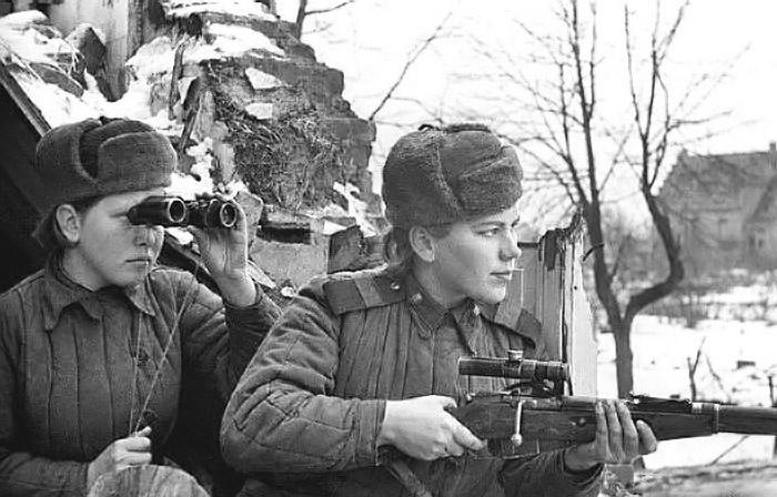 Счёт личной мести снайпера Розы Шаниной - 59 немецких солдат и офицеров.