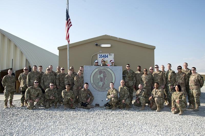 Американские военные на базе в Баграме.