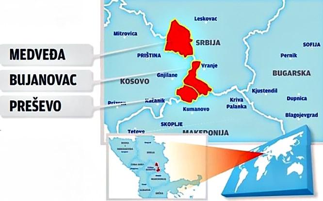 Карта предполагаемого обмена территориями.