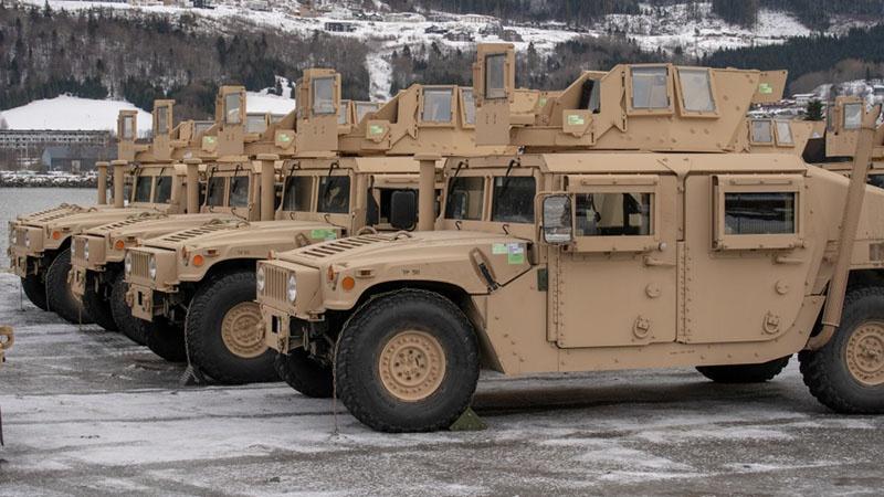 Военная техника США складируется в Норвегии.