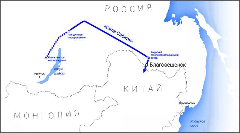 Газопровод «Сила Сибири» - выход на альтернативный (азиатский) рынок.