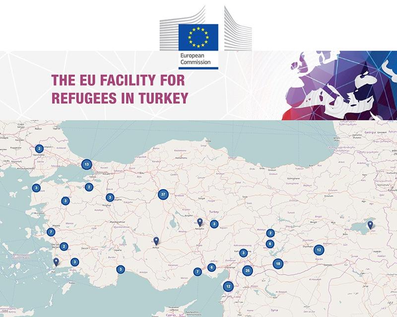 EU Facility for Refugees in Turkey - карта лагерей для беженцев в Турции.