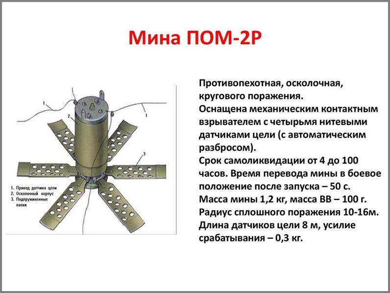 ПОМ-2 «Отёк» планировалась как мина, обладающая повышенной мощностью.