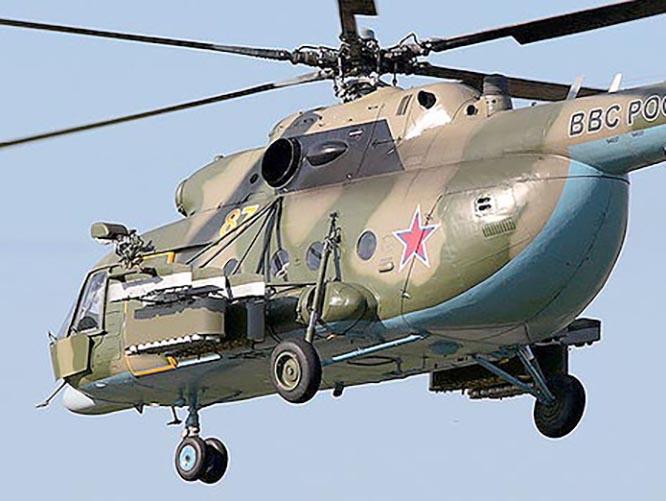 Вертолёт с кассетами для мин ПОМ-1.