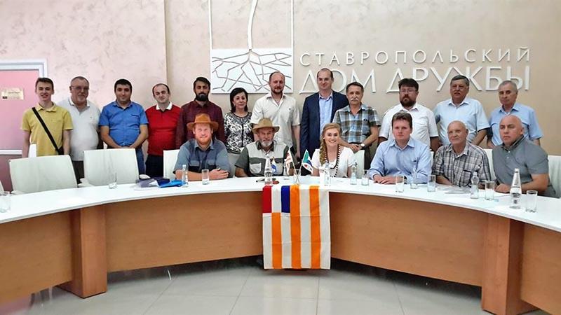 Ян Шлебуш с делегацией на встрече в Ставрополе.
