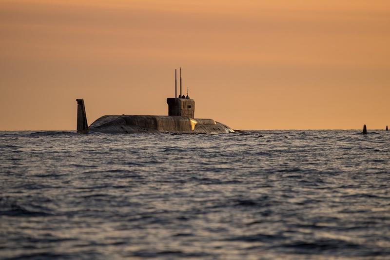 Подводная лодка в походе.