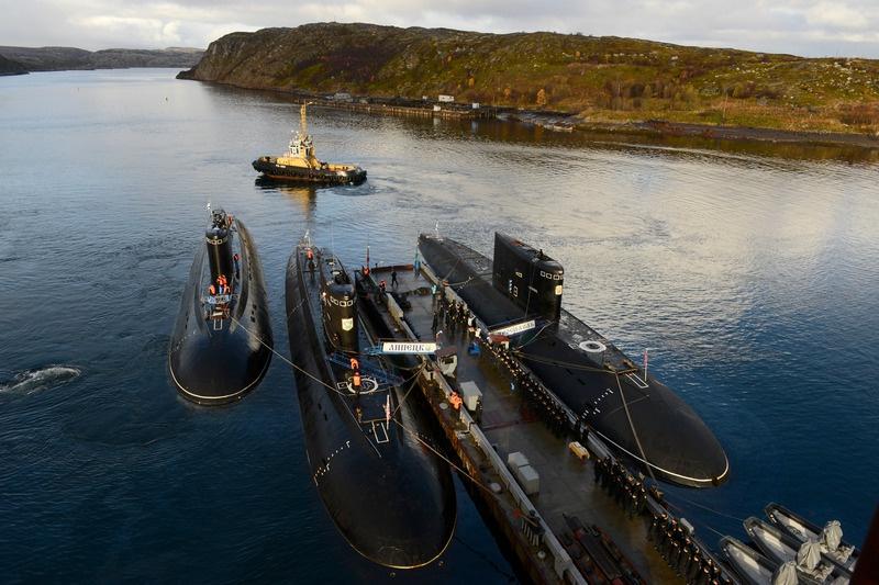 Стоянка подводных лодок.