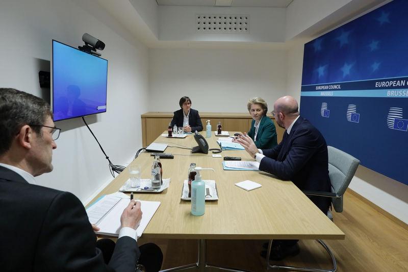 Впервые в истории встреча глав государств и правительств стран ЕС прошла в форме видеоконференции.