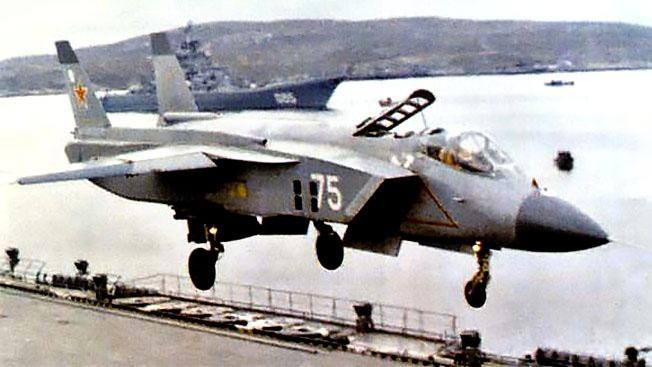 Истребитель вертикального взлёта Як-141, разработку которого прекратили в 2003 году.