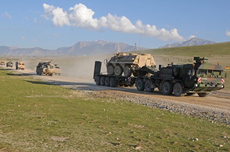 В функции немецкого контингента в Афганистане входит значительная доля логистики.