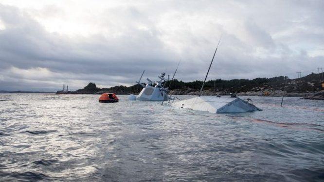 Во время учений «Единый трезубец» в 2018 году один из самых современных кораблей Норвегии ракетный фрегат «Хельге Ингстад» столкнулся с танкером и едва не затонул.