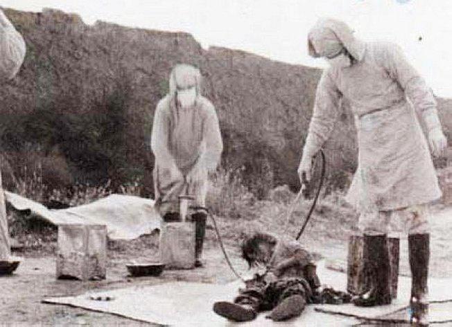 Опыты японцев с биологическим оружием во время Второй мировой войны.