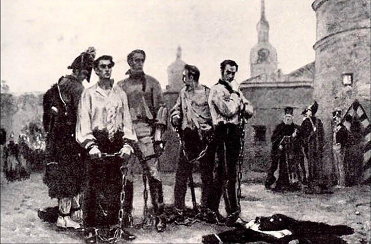 Планы «южных декабристов» провалились, а руководители восстания были казнены.