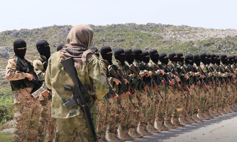 Туркестанские исламисты и «Защитники Веры»* из «Хуррас аль-Дин»*.
