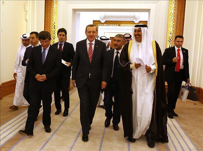 Эмир Катара шейх Хамад бин Халифа Аль Тани и президент Турции Реджеп Эрдоган приверженцы идеологии «Братьев-мусульман»*.
