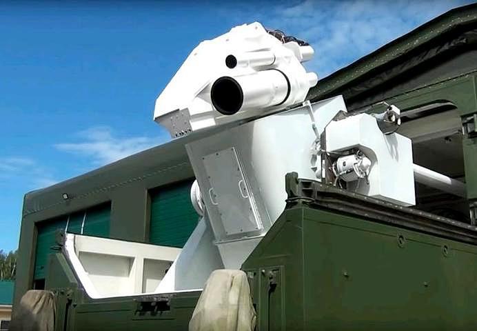 Боевой лазерный комплекс «Пересвет» размещается в корпусе прицепа.