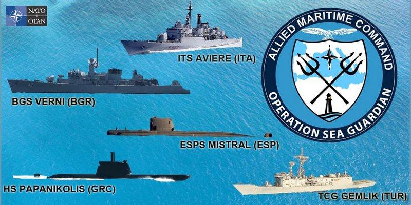 С апреля корабли НАТО возобновляют патрулирование кораблей в Средиземном море в рамках операции «Морской страж».