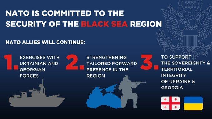 НАТО будет активнее привлекать Украину и Грузию к своим учениям в регионе Чёрного моря.