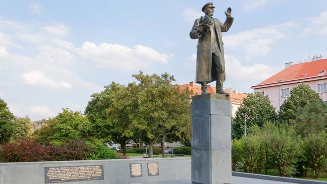 Участок земли, на котором располагался монумент маршалу Коневу, обозначен как памятная охраняемая зона.