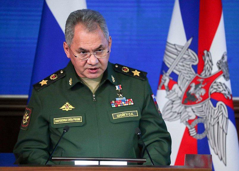 Министр обороны России генерал армии Сергей Шойгу на декабрьском расширенном заседании Коллегии Министерства обороны.