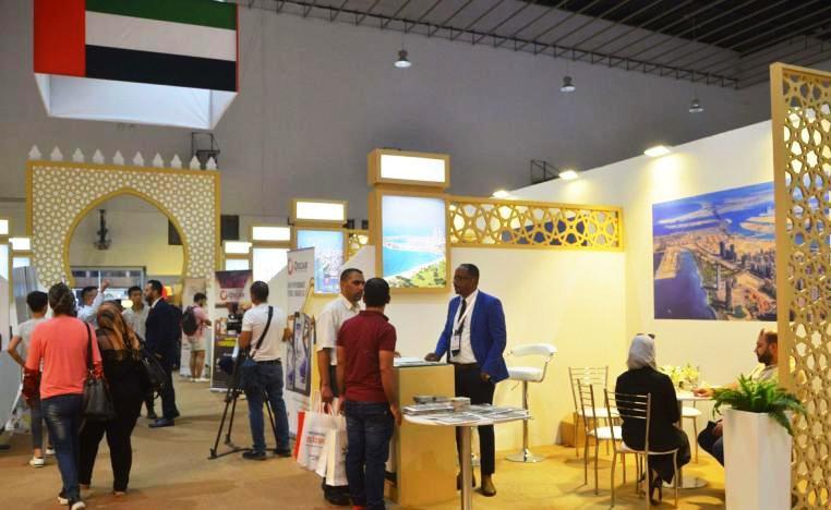Стенды компаний из ОАЭ на международной ярмарке в Дамаске в 2019 году.